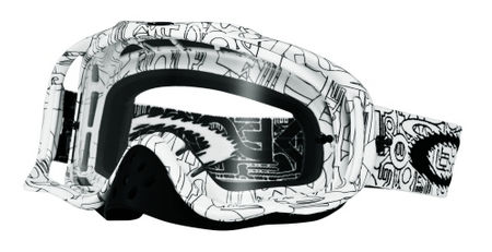 OAKLEY Crowbar MX White Factory Text Clear cross szemüveg 14f52e9e3e
