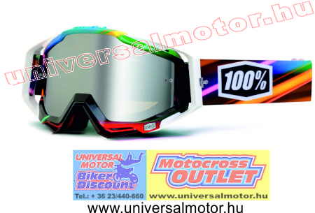 100percent Racecraft Kaleidoscope B R Y G Mirror Silver cross szemüveg 3a1414f06f