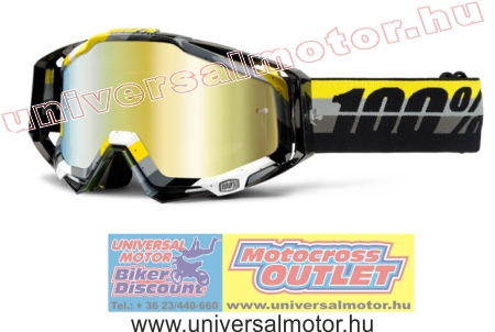 100percent Racecraft Max Y G B Mirror Gold cross szemüveg e3f7c39bfd